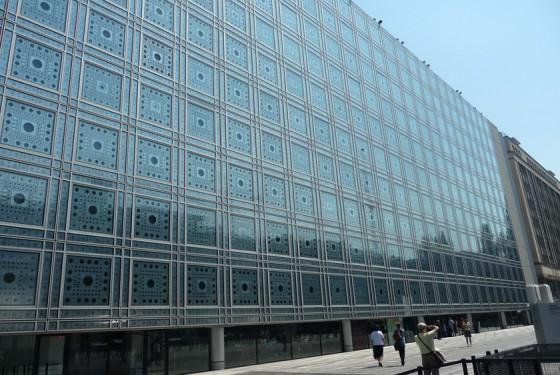 Fassade von dem Musee de Institut du Monde arabe
