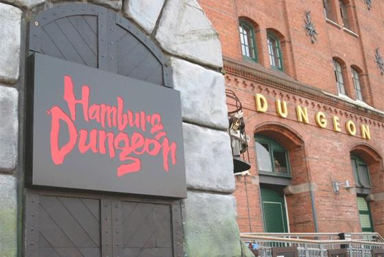 Hamburg Dungeon Eingang in der Speicherstadt von Hamburg