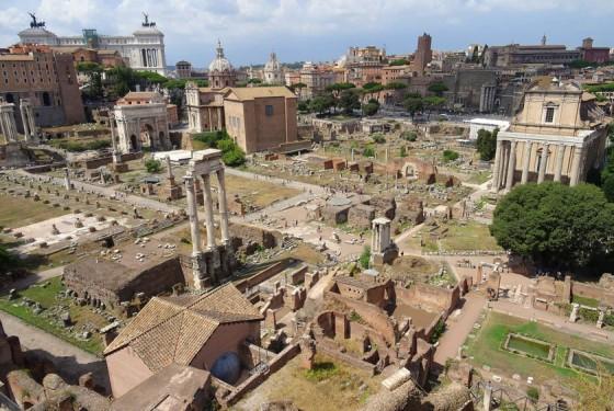 Forum Romanum aus der Vogelperspektive