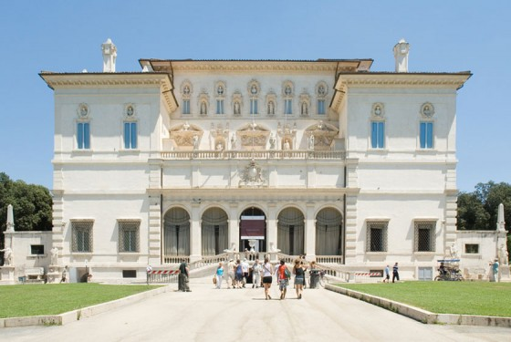 Galleria Borghese Gesamtansicht im Park Borghese