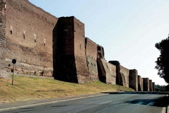 Teil der antiken Mauer von des Museo delle Mura