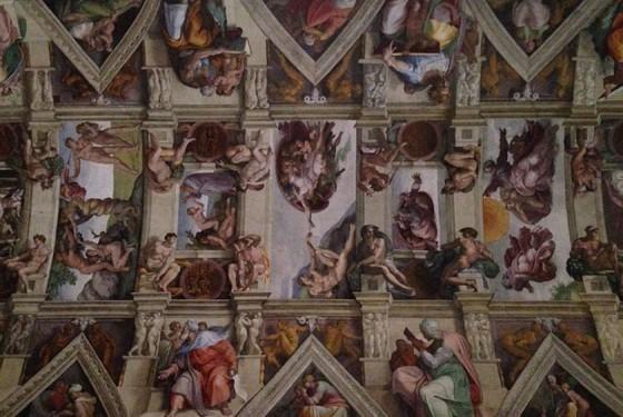 Deckengemälde der Sixtinischen Kapelle mit Handarbeit