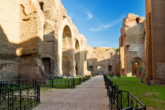 Terme di Caracalla in Rom mit Informationen und Wegen für Touristen