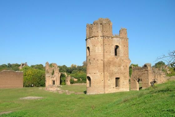 Ruinen des Villa di Massenzio in Rom