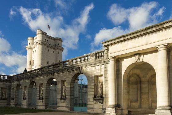 Blick auf das Chateau de Vincennes in Paris