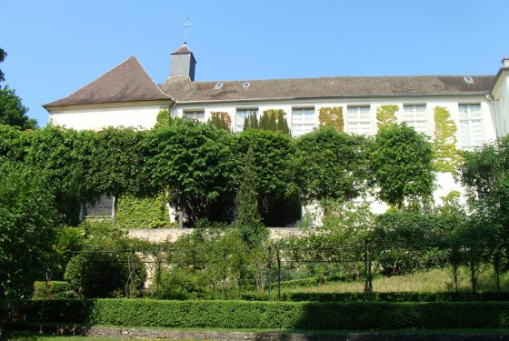 Die grüne Fassade des  Musee Maurice Denis