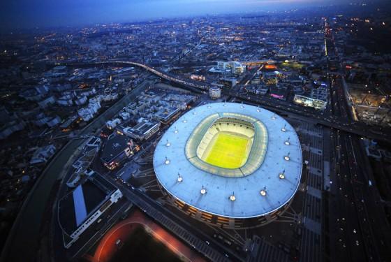 Fussballstadion Stade de France von oben