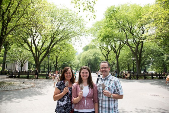 Familie auf einer On Location Tours Central Park TV and movie sites