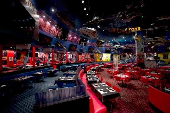 Planet Hollywood Restaurant Innenansicht