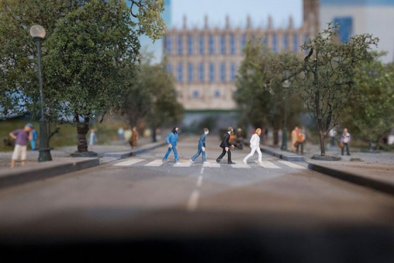 Die Beatles in Miniatur im Gulliver's Gate in New York