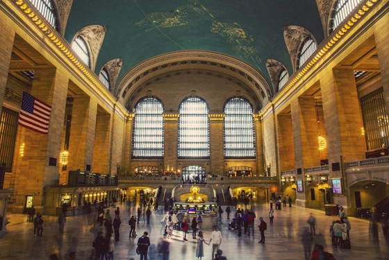 Die Halle in welcher die Grand Central Audio Tour stattfindet